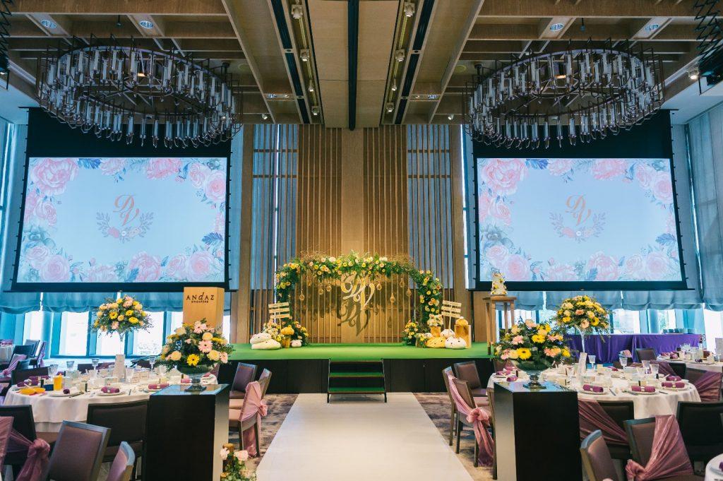 wedding decor andaz Singapore
